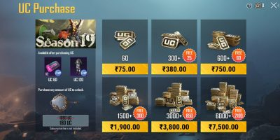 Battlegrounds Mobile India UC prices got reduced: Know new UC prices