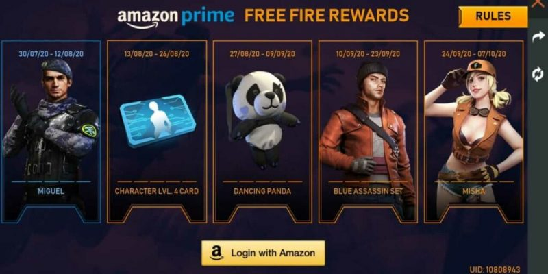 Free Fire Amazon Prime Event: How to link and claim rewards in the