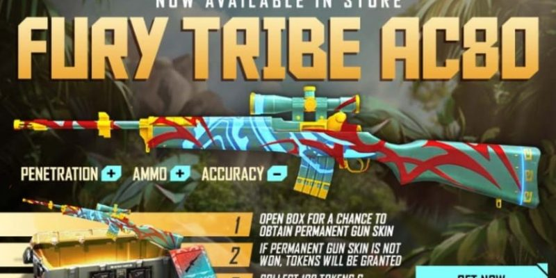 FREE FIRE: New FURY TRIBE Gun skin is now available for the AC80 gun, Know its details and how to claim it
